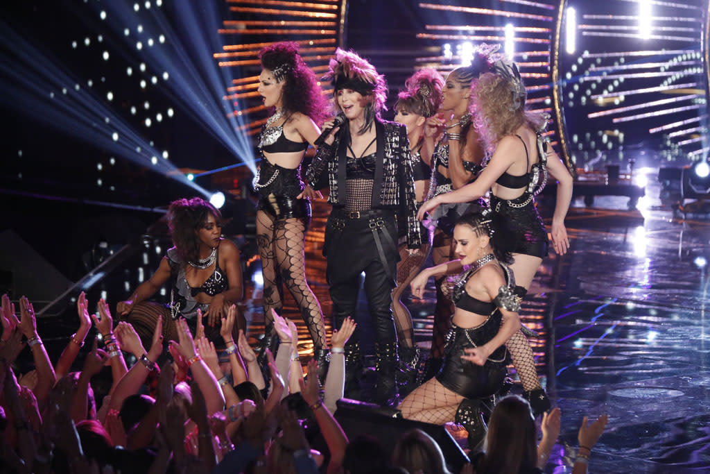 "Cher performs ""Woman's World"" on the ""Live Finale"" episode of ""The Voice"" Season 4."