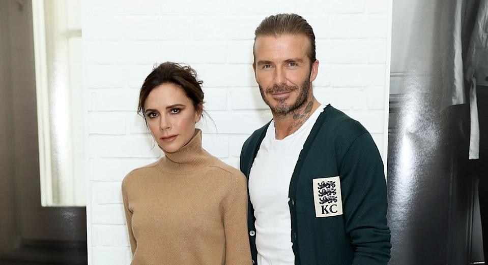 The fashion designer shared a sweet family pic to honour her ex-footballer husband (Getty Images)