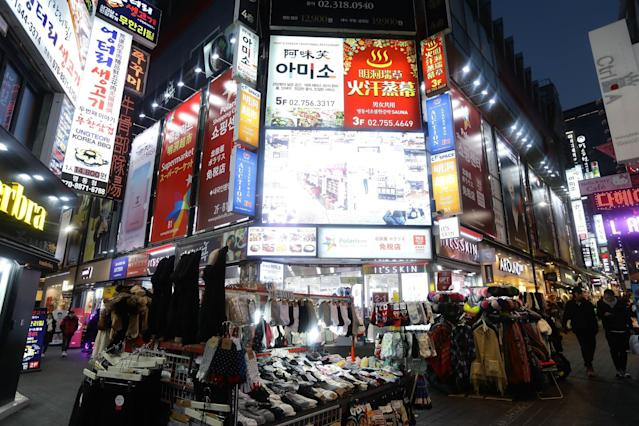 <p>The general view of Myungdong shopping district ahead of PyeongChang 2018 Winter Olympic Games on January 25, 2017 in Seoul, South Korea. (Photo by Chung Sung-Jun/Getty Images) </p>