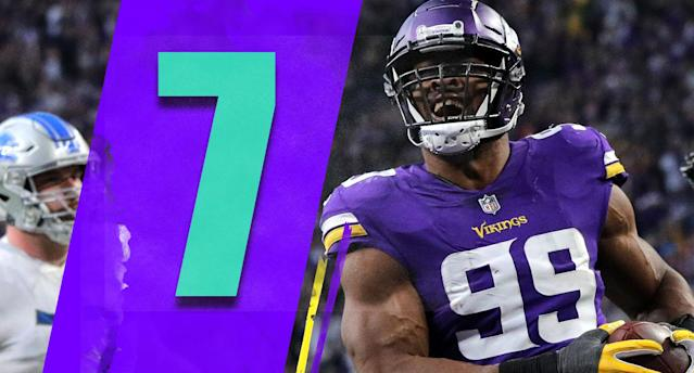 <p>Who would have thought that Minnesota's game on Sunday at Chicago might be the biggest in the NFC North this season? That's a pretty good Sunday night matchup. (Danielle Hunter) </p>