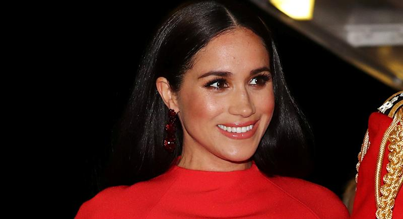 Meghan Markle wears affordable British jewellery brand on latest virtual engagement. (Getty Images)
