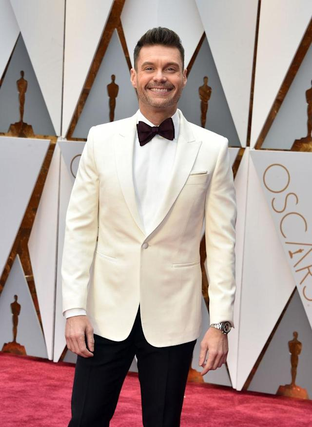 Ryan Seacrest covers the 2017 Oscars. (Photo: Kevin Mazur/Getty Images)