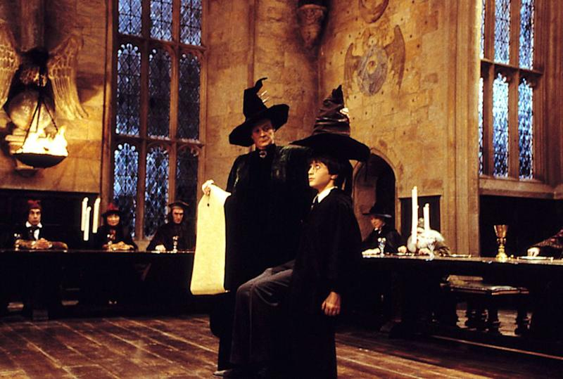 Maggie Smith and Daniel Radcliffe in Harry Potter and the Sorcerer's Stone | Warner Bros./Courtesy Everett Collection