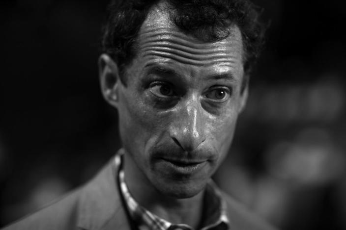 <p>Former congressman Anthony Weiner responds during an interview prior to the start of events, Tuesday, July 26, 2016, in Philadelphia, PA. (Photo: Khue Bui for Yahoo News) </p>