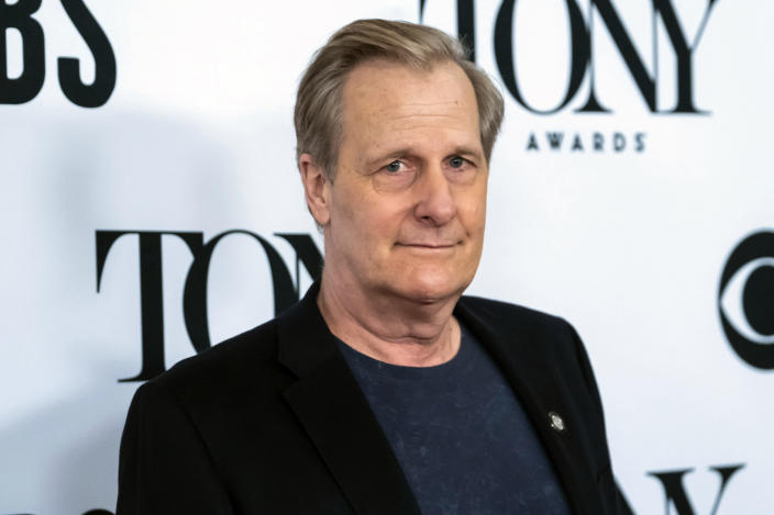 """FILE - In this May 1, 2019, file photo, Jeff Daniels poses for a picture at the 73rd annual Tony Awards """"Meet the Nominees"""" press day in New York. Fans of the Broadway adaptation of """"To Kill a Mockingbird"""" will get a treat when the show restarts on Broadway in fall 2021, as Daniels and Celia Keenan-Bolger, two of the play's original stars, are returning. (Photo by Charles Sykes/Invision/AP, File)"""