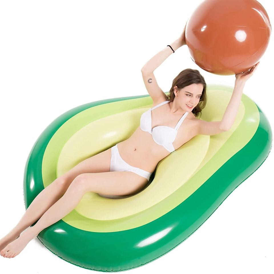 <p>Yep, we're into this <span>Jasonwell Inflatable Avocado Pool Float</span> ($23). The pit is a ball you can toss around!</p>