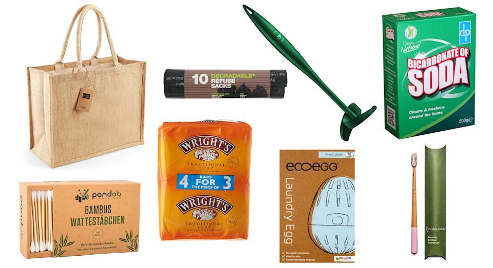 Reduce your carbon footprint with these eco-friendly household products [Photo: Getty Images]