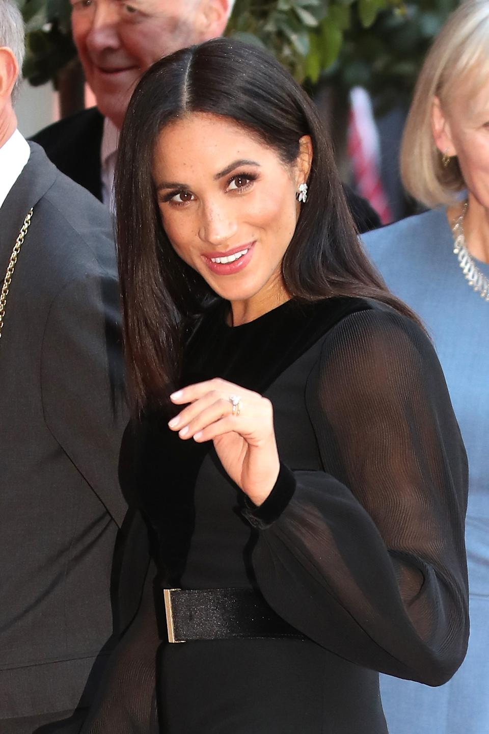 Meghan, Duchess of Sussex opens 'Oceania' at Royal Academy of Arts on September 25, 2018 in London, England. 'Oceania' is the first-ever major survey of Oceanic art to be held in the United Kingdom.