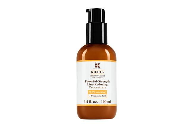 "<p>Unchanged after 166 years until now, <a href=""https://www.sephora.com/product/powerful-strength-line-reducing-concentrate-12-5-vitamin-c-P427529?skuId=2024792&icid2=just%20arrived:p427529"" rel=""nofollow noopener"" target=""_blank"" data-ylk=""slk:Kiehl's Vitamin C concentrate"" class=""link rapid-noclick-resp""><span>Kiehl's Vitamin C concentrate</span></a> now packs an extra punch to brighten up skin. The apothecary brand's product now has an increased level of vitamin C and an added boost of hyaluronic acid, which keeps skin plump and retain its elasticity. ($62, <a href=""https://www.kiehls.com/"" rel=""nofollow noopener"" target=""_blank"" data-ylk=""slk:kiehls.com"" class=""link rapid-noclick-resp""><span>kiehls.com</span></a>) (Photo: Kiehl's) </p>"