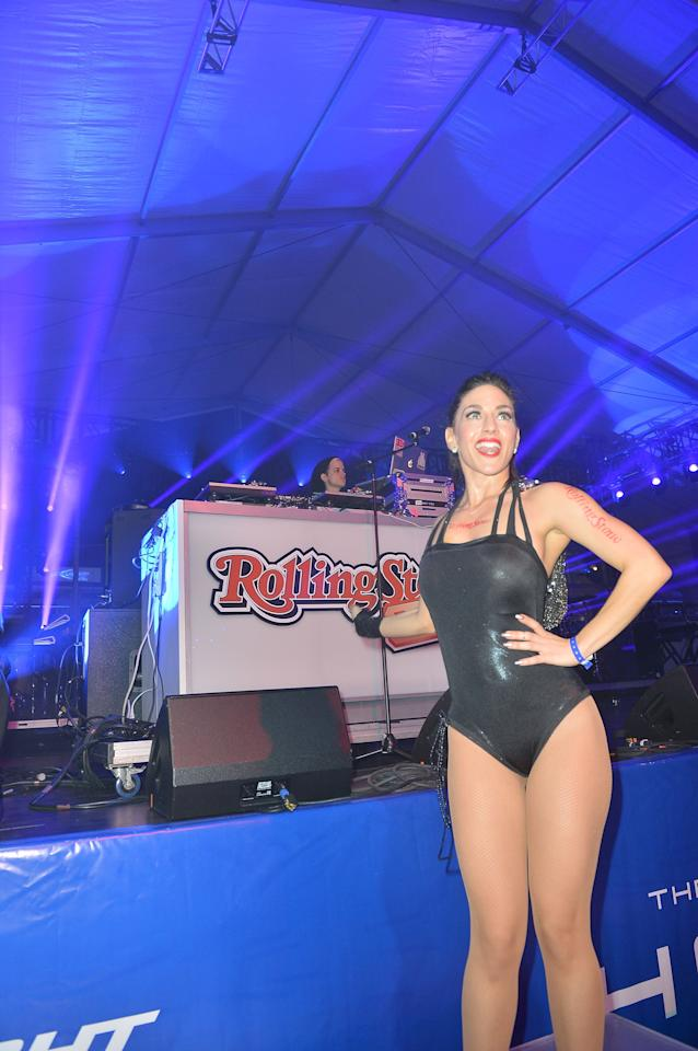NEW ORLEANS, LA - FEBRUARY 01:  DJ Samantha Ronson performs at the Rolling Stone LIVE party held at the Bud Light Hotel on February 1, 2013 in New Orleans, Louisiana.  (Photo by Gustavo Caballero/Getty Images for Rolling Stone)