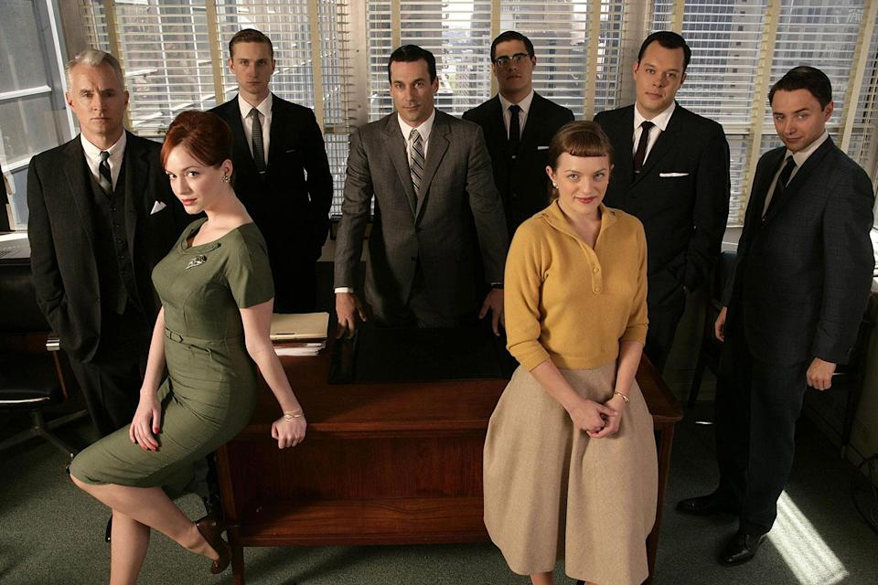The cast of the first season of 'Mad Men', poised on the cusp of immortality. (Lionsgate/AMC/Sky)