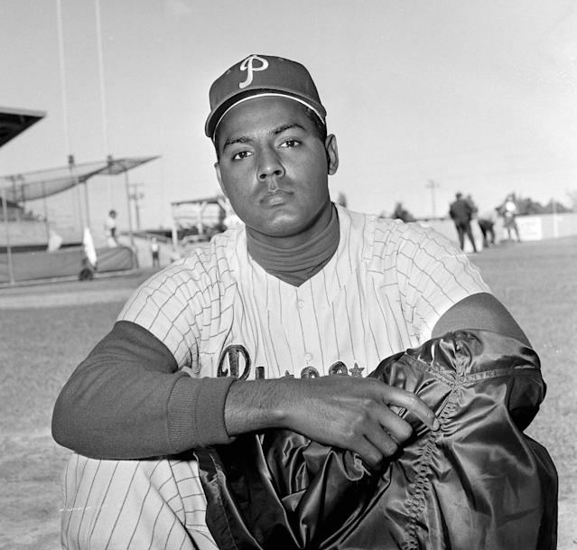 Ruben Amaro Sr. in 1959 as a young shortstop for the Phillies. (AP)