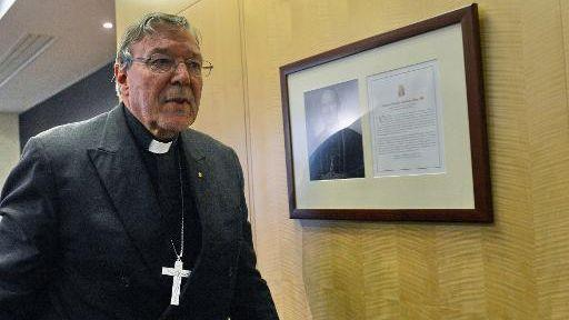 Cardinal Pell has been reportedly too ill to return to Australia to give evidence at the Royal Commission. Photo: Yahoo7