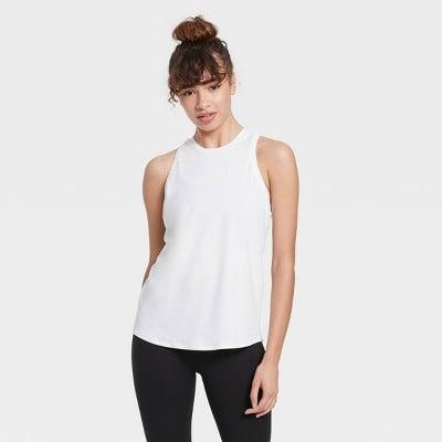 <p>This <span>All in Motion Essential Racerback Tank Top</span> ($12) is one you'll always reach for.</p>