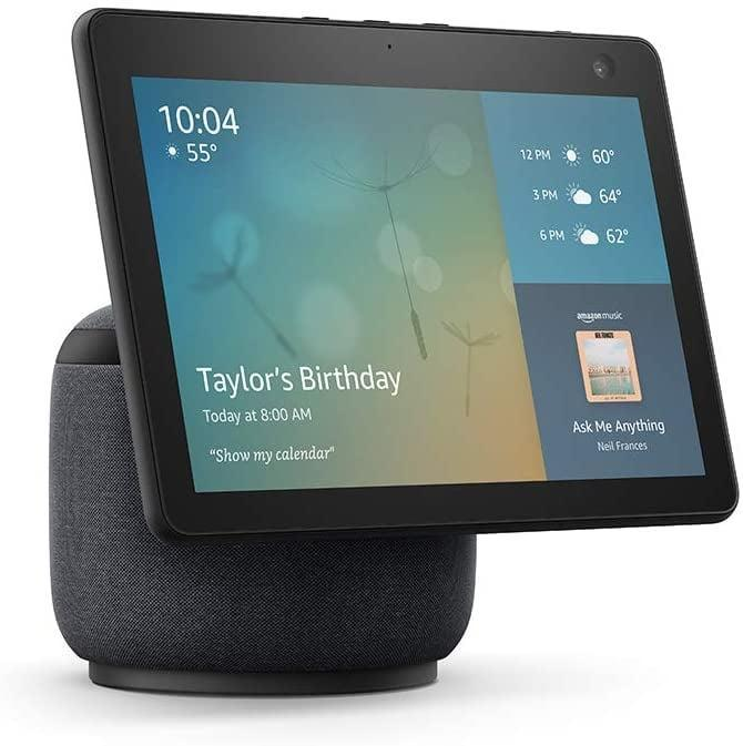 <p>You can have your own personal assistant with the <span>Amazon Echo Show 10</span> ($250). You'll be able to enjoy entertainment, keep in touch with friends and family, control your household, stream countless workouts, staying on top of your schedule and errands, and so much more with this one device. You even get a one year free subscription to Food Network so you can sharpen your cooking and baking skills.</p>