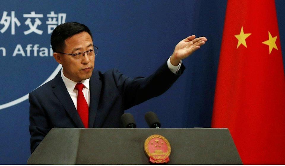 """Foreign ministry spokesman Zhao Lijian is among the combative figures seen as engaging in """"Wolf Warrior"""" diplomacy. Photo: Reuters"""