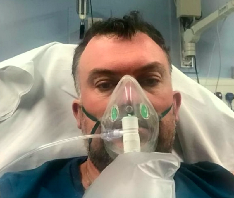Steve Banks was given just a 1% chance of survival after contracting COVID-19. (SWNS)