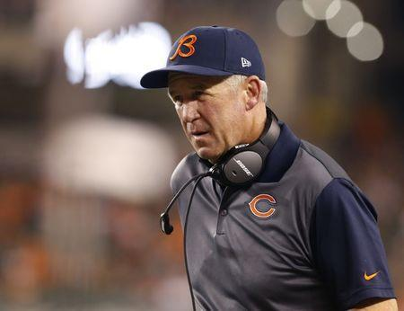 FILE PHOTO: Aug 29, 2015; Cincinnati, OH, USA; Chicago Bears head coach John Fox looks on from the sidelines in the second half against the Cincinnati Bengals in a preseason NFL football game at Paul Brown Stadium. Aaron Doster-USA TODAY Sports