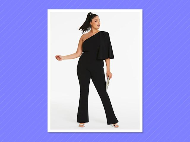 "<p>By Night Asymmetric Shoulder Cape Detail Jumpsuit, $65,<a href=""https://www.simplybe.com/en-us/products/sbu-cape-jumpsuit/p/WZ657#v=color%3AWZ657_BLACK%7C"" rel=""nofollow noopener"" target=""_blank"" data-ylk=""slk:simplybe.com"" class=""link rapid-noclick-resp""> simplybe.com </a> </p>"