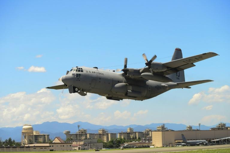 Two US Marine Corps aircraft, including a C-130 tanker similar to the one pictured, crashed during a refueling operation off the coast of Japan