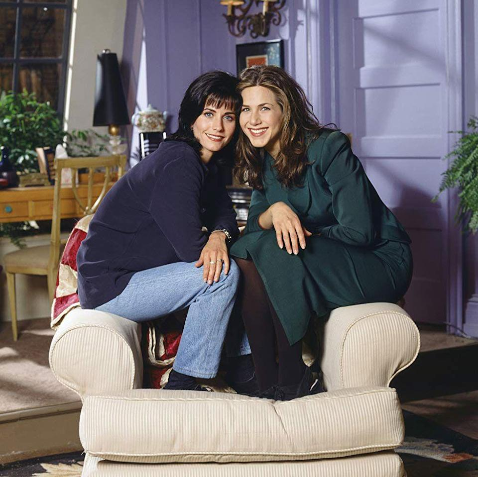 """<p>Often praised as one of the greatest sitcoms of all time, the creators of <em>Friends</em> put six besties in an uncharacteristically spacious New York apartment and let the sparks fly. Over the course of its 10-season run, fans collectively <em>awwed</em> at Rachel (Jennifer Aniston) and Ross's (David Schwimmer) romance, rushed to the salon to recreate Rachel's signature haircut, and sung along to Phoebe's (Lisa Kudrow) """"Smelly Cat."""" To this day, Joey's (Matt LeBlanc) """"how you doin?'"""" and the Thanksgiving episodes are forever cemented in pop culture. <a href=""""https://www.oprahdaily.com/entertainment/tv-movies/a36531443/friends-reunion-how-to-watch/"""" rel=""""nofollow noopener"""" target=""""_blank"""" data-ylk=""""slk:Watch the reunion"""" class=""""link rapid-noclick-resp"""">Watch the reunion</a> when you're done bingeing. </p><p><a class=""""link rapid-noclick-resp"""" href=""""https://www.amazon.com/Where-Monica-Gets-Roommate-Began/dp/B000N8GL34/?tag=syn-yahoo-20&ascsubtag=%5Bartid%7C10063.g.37608731%5Bsrc%7Cyahoo-us"""" rel=""""nofollow noopener"""" target=""""_blank"""" data-ylk=""""slk:Watch Now"""">Watch Now </a></p>"""