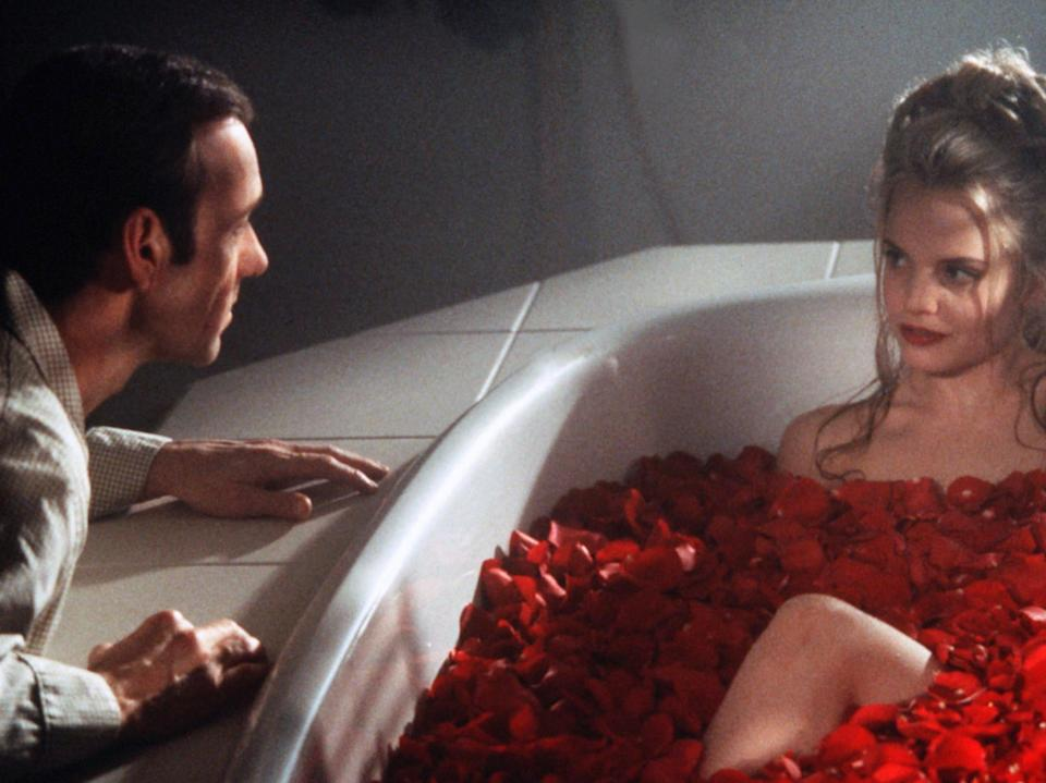<p>Kevin Spacey and Mena Suvari in 'American Beauty'</p>Rex Features
