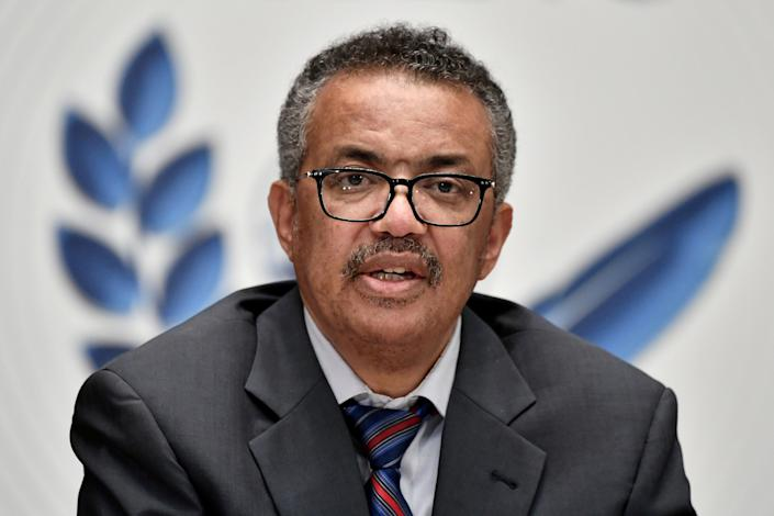 <p>Dr Tedros Adhanom Ghebreyesus warned that it was vital all countries recieved the Covid-19 vaccine as quickly as possible </p> (REUTERS)