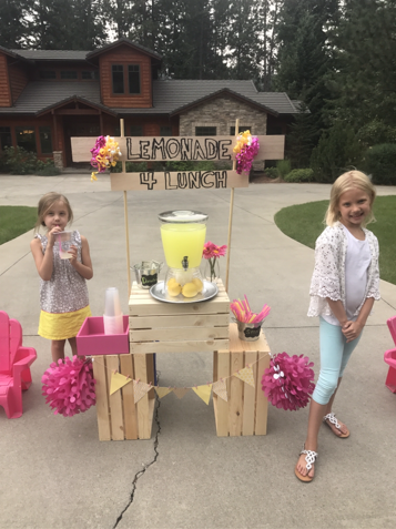 Six-year-old Amiah Van Hill has started a lemonade stand to help pay off lunch debt at an Idaho school district. (Rachel Van Hill)