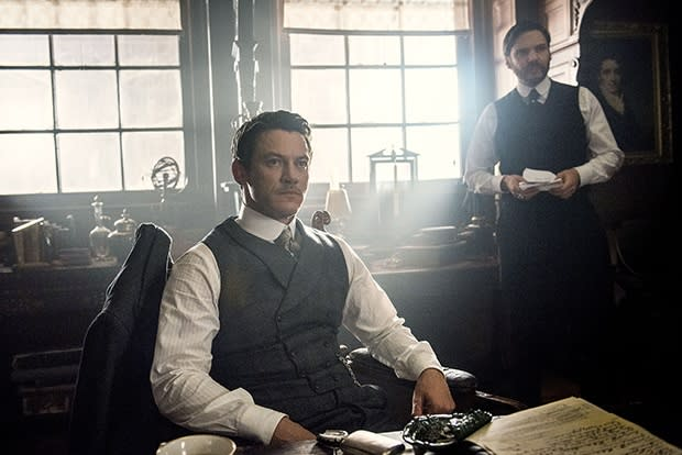 Luke Evans and Daniel Brühl in The Alienist.