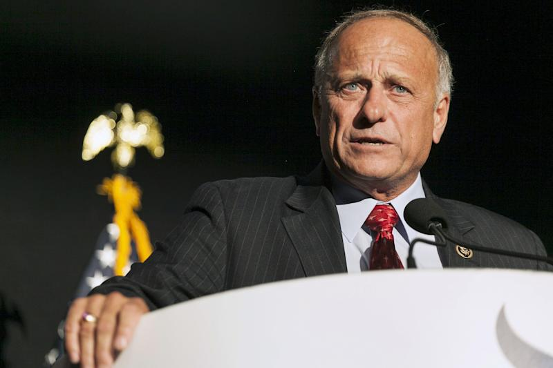 Rep. Steve King (R-Iowa)speaks at the Iowa Faith and Freedom Coalition Forum in Des Moines, Iowa, Sept. 19, 2015. (Brian C. Frank / Reuters)