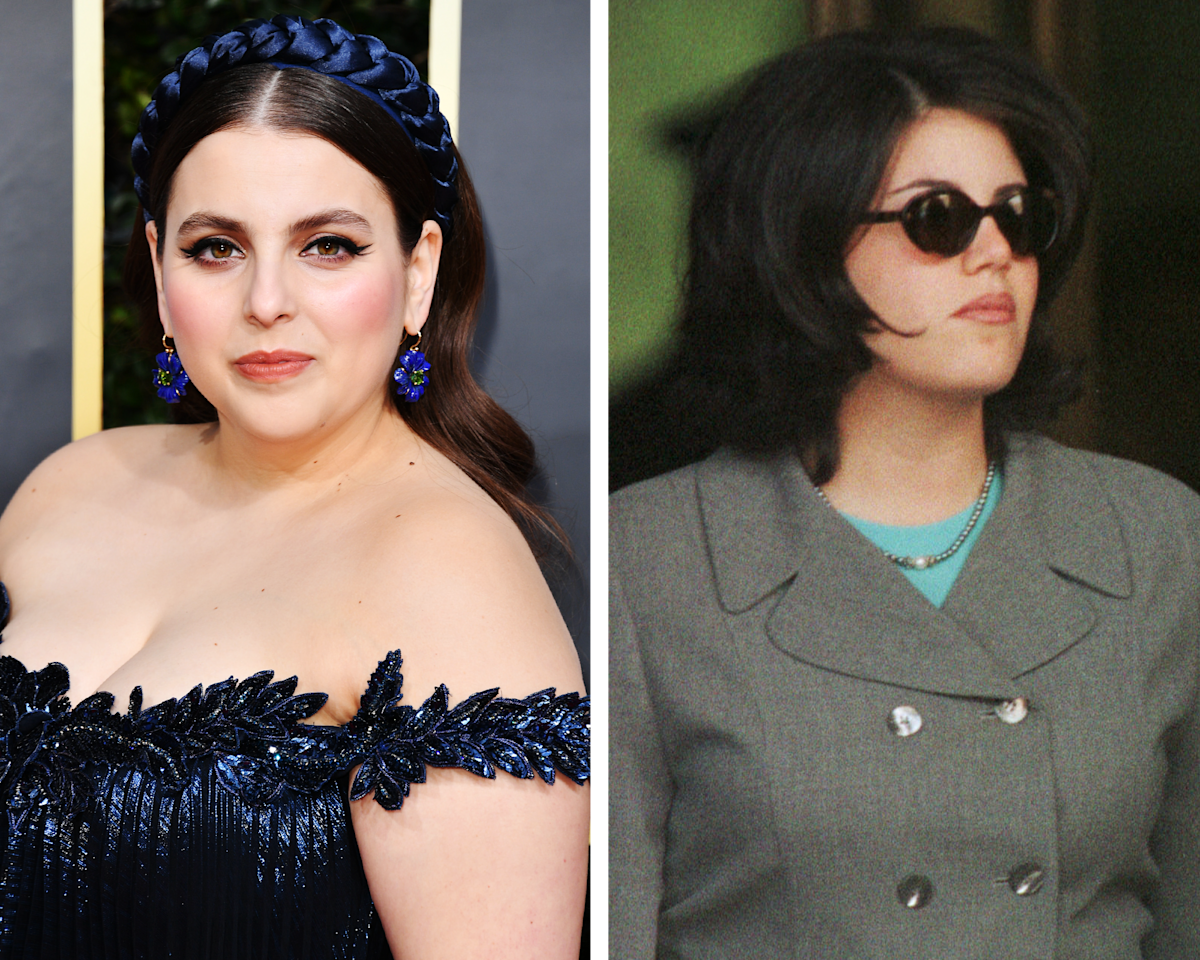 """The 26-year-old <em>Booksmart</em> star has been tapped to play Lewinsky, the White House intern at the heart of the scandal. (Lewinsky has since become an anti-bullying activist and a <em>Vanity Fair</em> contributor.) The political figure is a producer on <em>American Crime Story: Impeachment</em>, which means Feldstein already has Lewinsky's blessing: """"I'm just beyond honored and I'm very excited,"""" she told <a href=""""https://www.vanityfair.com/hollywood/2019/09/beanie-feldstein-how-to-build-a-girl-monica-lewinsky?mbid=synd_yahoo_rss""""><em>Vanity Fair</em></a> last year."""