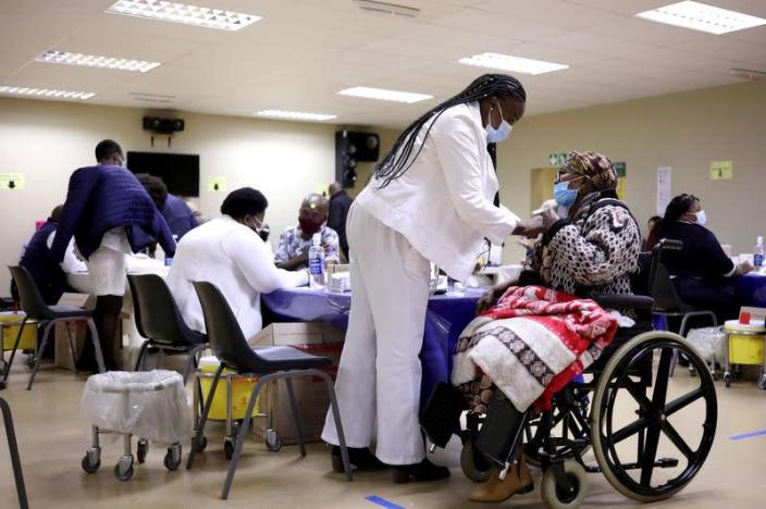 FILE PHOTO: South Africa rolls out COVID-19 vaccines to the elderly