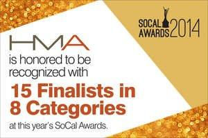 Hayes Martin Associates receives 15 nominations in a range of coveted categories for the upcoming 2014 SoCal Awards on Sept. 27th. Click here for high-resolution version