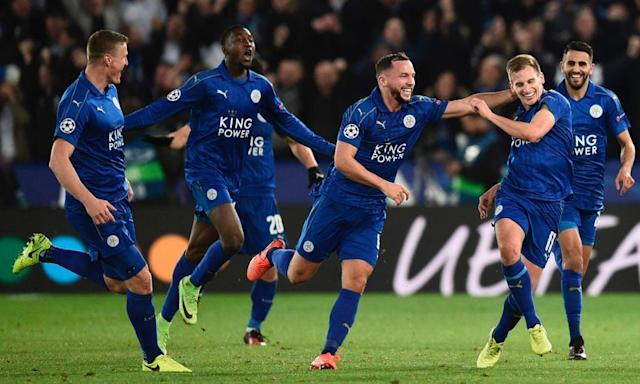 "<span class=""element-image__caption"">Leicester City are the only English club in the Champions League quarter-finals.</span> <span class=""element-image__credit"">Photograph: Oli Scarff/AFP/Getty Images</span>"