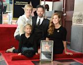 """<p>Amy received her Hollywood Walk of Fame star with Le Gallo, Aviana, and Amy's mom at her side. Throughout her entire career (including five Oscar noms), Le Gallo has been Amy's unwavering support system. """"He's not competitive with me,"""" Amy told <em><a href=""""https://www.vanityfair.com/news/2008/11/amyadams200811"""" rel=""""nofollow noopener"""" target=""""_blank"""" data-ylk=""""slk:Vanity Fair"""" class=""""link rapid-noclick-resp"""">Vanity Fair</a></em> in that same 2008 story. """"He has a wonderful talent, and there aren't many people in the world who are like that, where he does not think that my success is his failure. He just doesn't see it like that, and I don't either."""" </p><p>She repeated that sentiment in a 2016 interview with <em>The Guardian</em>: """"...He travels with me and helps to keep the family together, and I really do appreciate that. But I don't value it because he's a man doing it, I value it because he's my partner… My husband is an extremely competent caregiver.""""</p>"""