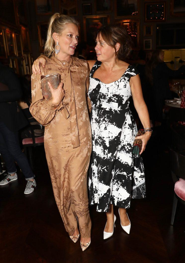Shulman knows anyone who's anyone in the fashion industry - including supermodel Kate Moss
