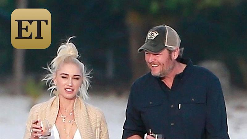Gwen Stefani and Blake Shelton Run Into Luke Bryan During Romantic Beach Stroll (Exclusive Pics)