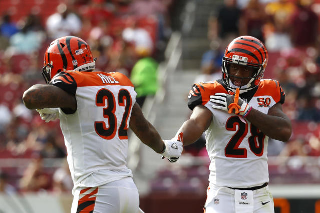 Joe Mixon is almost certainly the most talented back on this team, but, for now, he seems to be a committee member. (AP Photo/Alex Brandon)