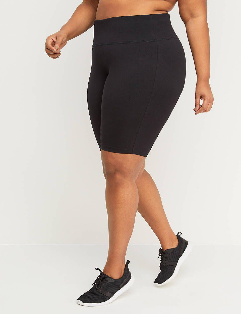 """<p><strong>Lane Bryant</strong></p><p>lanebryant.com</p><p><strong>$24.95</strong></p><p><a href=""""https://go.redirectingat.com?id=74968X1596630&url=https%3A%2F%2Fwww.lanebryant.com%2Flivi-bike-short%2Fprd-243262&sref=https%3A%2F%2Fwww.prevention.com%2Ffitness%2Fworkout-clothes-gear%2Fg34943640%2Fplus-size-workout-clothes%2F"""" rel=""""nofollow noopener"""" target=""""_blank"""" data-ylk=""""slk:Shop Now"""" class=""""link rapid-noclick-resp"""">Shop Now</a></p><p>Customers love the feel of these bike shorts, and they say the long inseam is super flattering and the waistband doesn't roll down. When you're not working out, they make for a perfect base layer under dresses.</p>"""