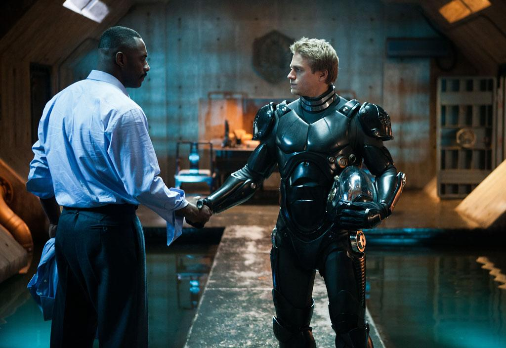 """Idris Elba and Charlie Hunnam in Warner Bros. Pictures' """"Pacific Rim"""" - 2013"""