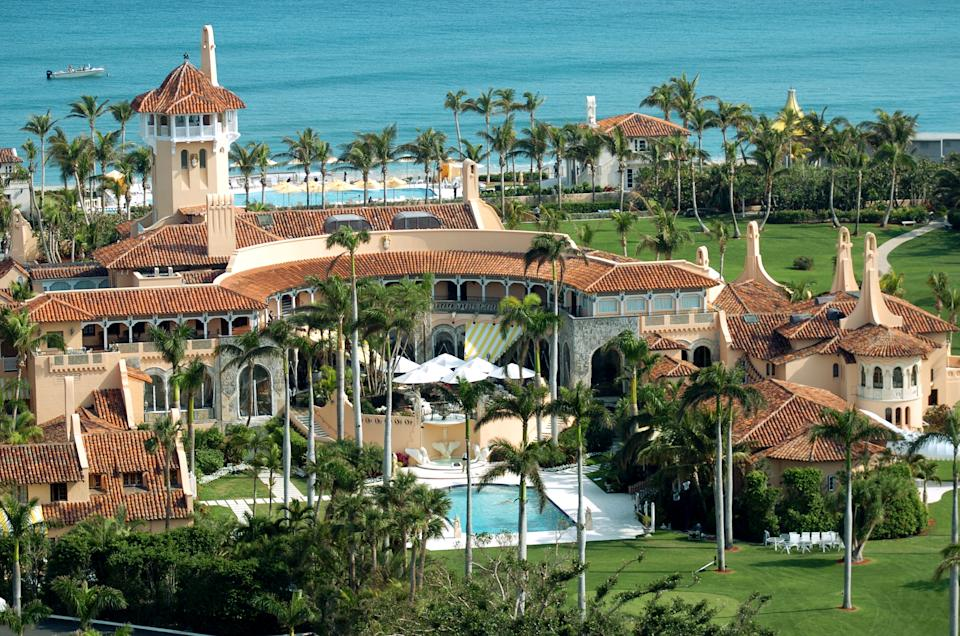 Aerial view of Mar-a-Lago, the oceanfront estate of Donald Trump in Palm Beach, Florida