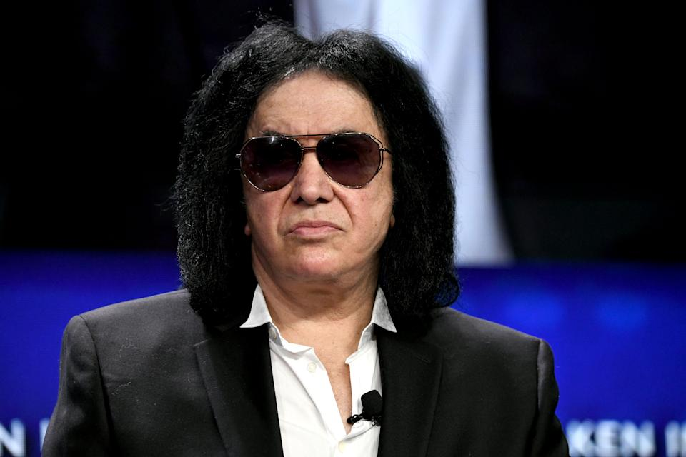 BEVERLY HILLS, CALIFORNIA - APRIL 29: Gene Simmons participates in a panel discussion during the annual Milken Institute Global Conference at The Beverly Hilton Hotel  on April 29, 2019 in Beverly Hills, California. (Photo by Michael Kovac/Getty Images)