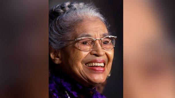 PHOTO: In a June 15, 1999 file photo Rosa Parks smiles during a Capitol Hill ceremony where Parks was honored with the Congressional Gold Medal in Washington. (Khue Bui/AP Photo)