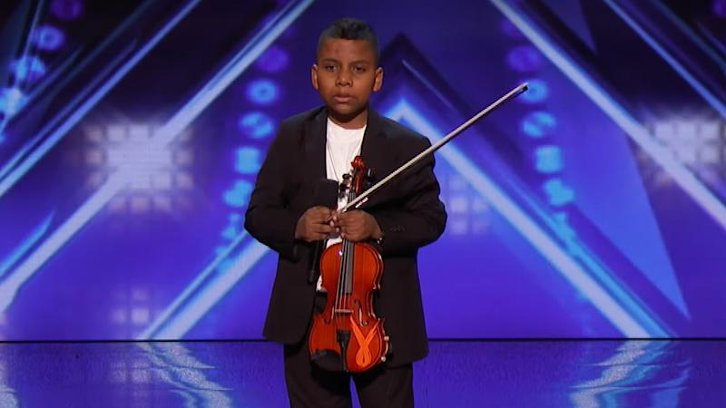 Tyler Butler-Figueroa wowed the 'America's Got Talent' audience with his violin skills. (Credit: NBC)