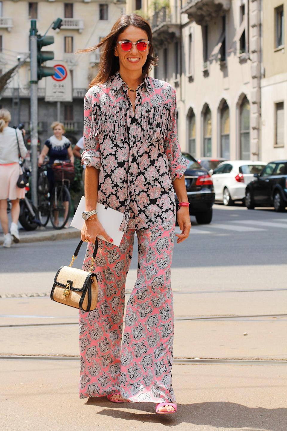 <p>This potent, printed look has serious style prowess, thanks to a pretty palette and an easy, breezy fit.</p>