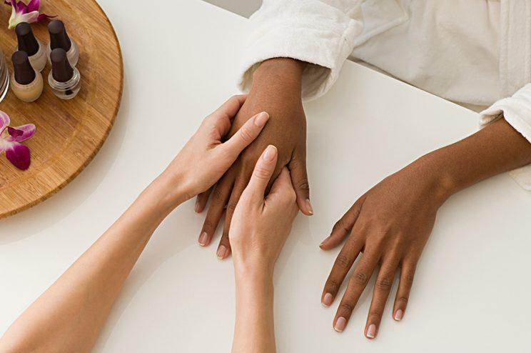 It just got easier to find flattering nude nail color for dark skin