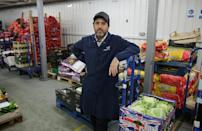 For Franco Fubini's company Natoora, stockpiling fresh fruits and vegetables is not an option (AFP Photo/Daniel LEAL-OLIVAS)
