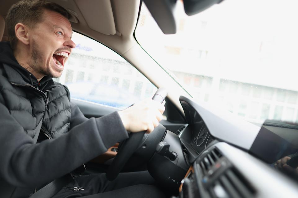 Angry driver in car. Source: Getty Images