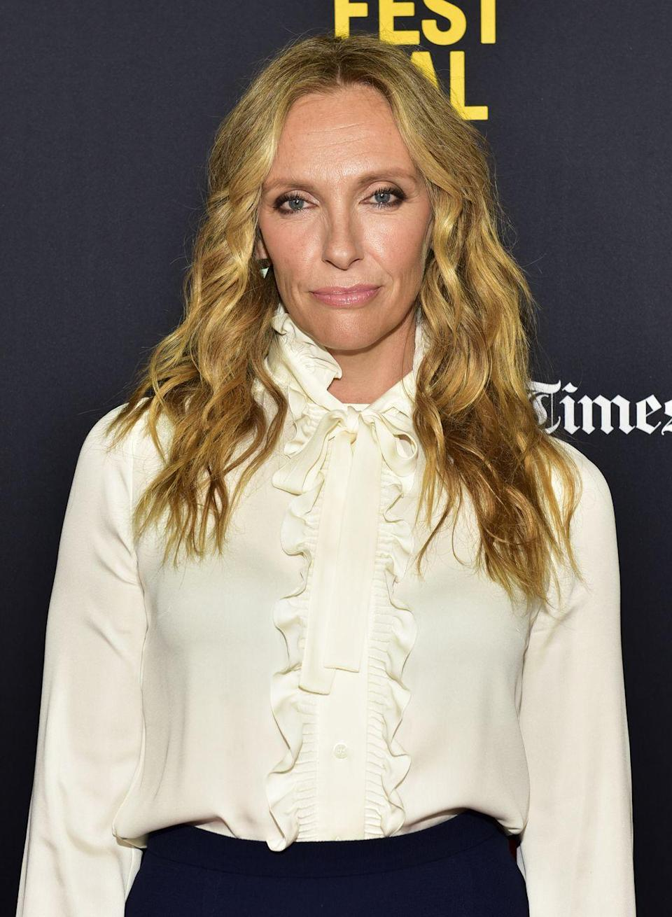"""<p>Toni Collette fronted the pop group Toni Collette and The Finish in her native Australia. Her husband, Dave Galafassi, was also in the group. Toni wrote and composed all 11 tracks for the band's album, <a href=""""https://open.spotify.com/album/3CdofbhP7OJhu6Xaa9erIM?si=b9YdlkPAS4eW1I8q4eXahQ"""" rel=""""nofollow noopener"""" target=""""_blank"""" data-ylk=""""slk:Beautiful Awkward Pictures"""" class=""""link rapid-noclick-resp""""><em>Beautiful Awkward Pictures</em></a>.</p>"""