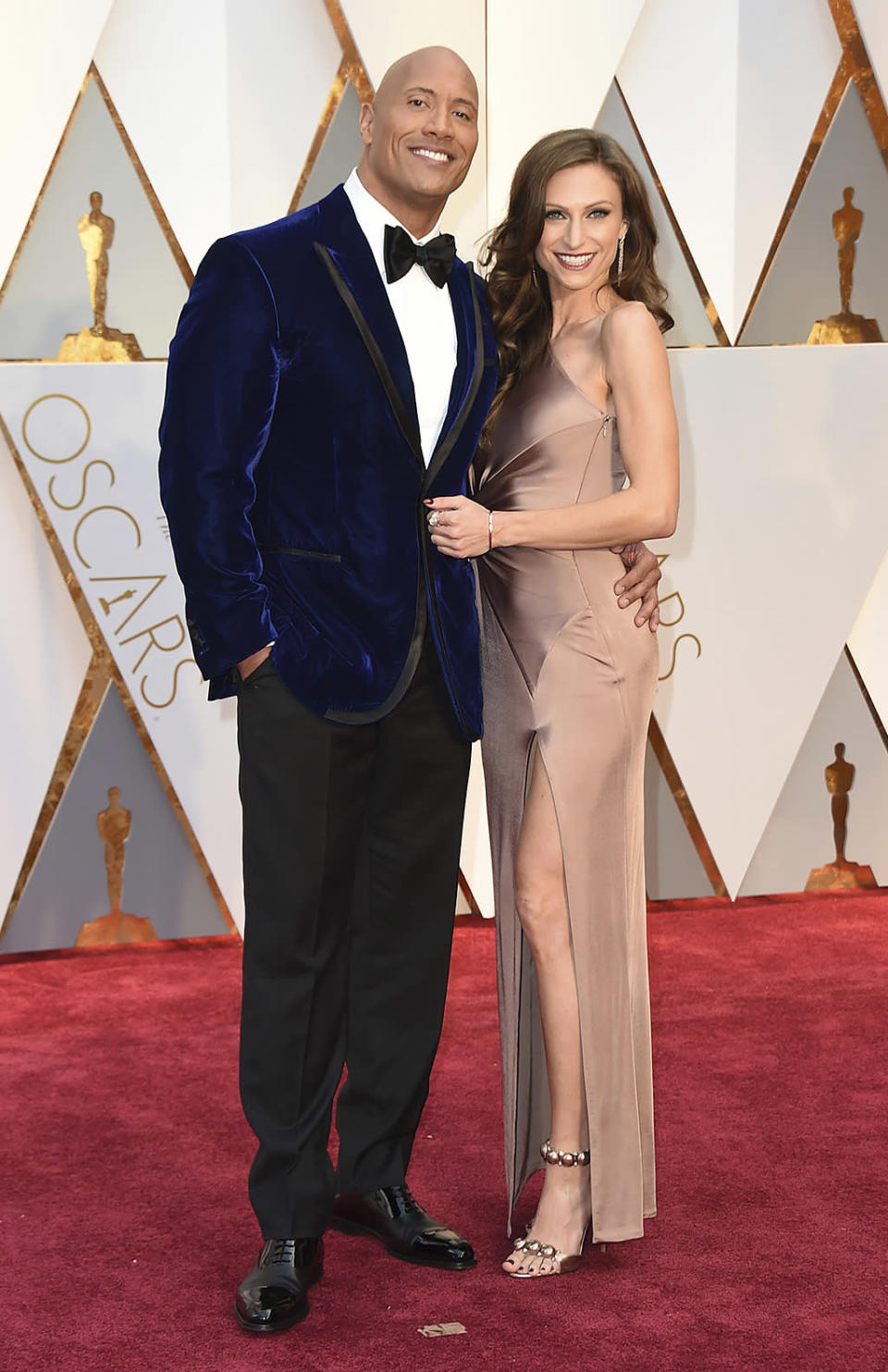 <p>Dwayne Johnson and Lauren Hashian arrive at the Oscars on Feb. 26, 2017. (Photo by Jordan Strauss/Invision/AP) </p>